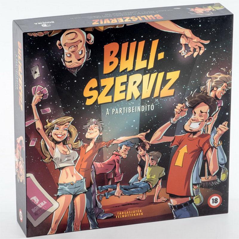 Buliszerviz társasjáték - A partibeindító. A házibulik elengedhetetlen kelléke. Bohema Games társasjátékok