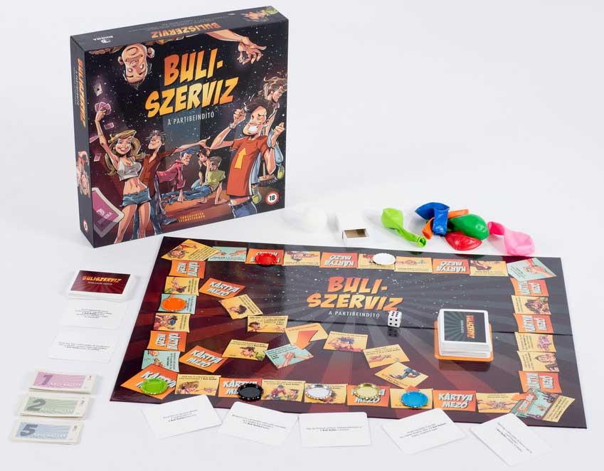 Buliszerviz társasjáték - A partibeindító - Bohema Games társasjátékok